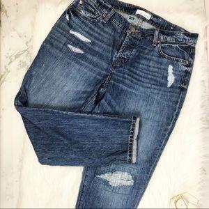 NWT Ann Taylor LOFT Distressed Boyfriend Jeans 10
